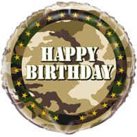 Product Image 18 Foil Military Camo Happy Birthday Balloon