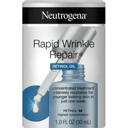 2 Pack - Neutrogena Rapid Wrinkle Repair Retinol Oil with Concentrated Retinol SA, Lightweight Anti-Wrinkle Treatment Se