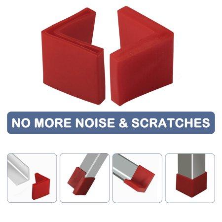 50mm x 50mm Angle Iron Foot Pad L Shaped PVC Leg Cap Floor Protector Red 8pcs - image 5 of 7