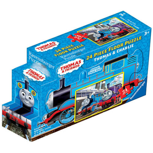 Thomas & Friends: Thomas and Charlie Floor Puzzle in a Shaped Box, 24 Pieces