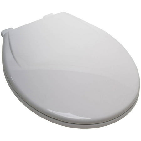 Plum Best White Plastic EZ Close Round Toilet Seat With Closed