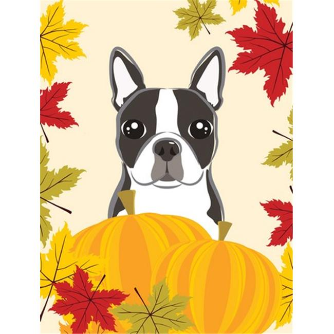 Boston Terrier Thanksgiving Flag Garden - image 1 de 1