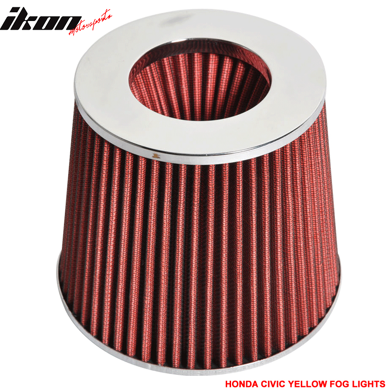 3.5 Inch Race Performance Cold Air Intake Filter KN Red Benz E SL SLK Series