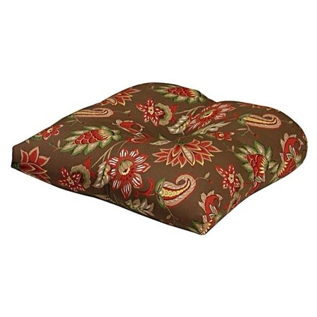 Marisol Chocolate Coral Outdoor Chair Cushion