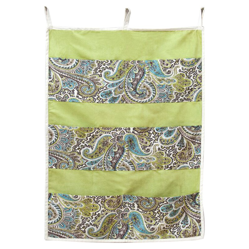 Brite Ideas Paisley Chocolate Pocket Wall Hanging Storage by Chooty and Co