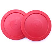 Air Hockey Pucks (Set of 2), 2.5-Inch, Set of two (red) replacement air hockey pucks By Brybelly by