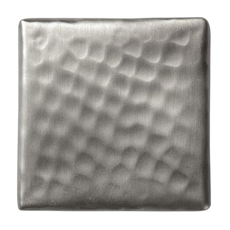 Solid Hammered Copper 2in.x2in. Decorative Accent Tile in Satin Nickel Finish - ()