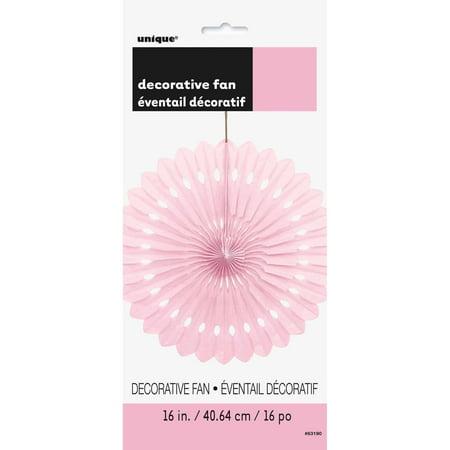 Tissue Paper Fan Decoration, 16 in, Light Pink, - Halloween Decorations With Tissue Paper