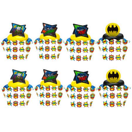 Batman Cupcake Decoration Rings Cupcake Rings with Baking Cup Decoration - Batman Cupcake Liners