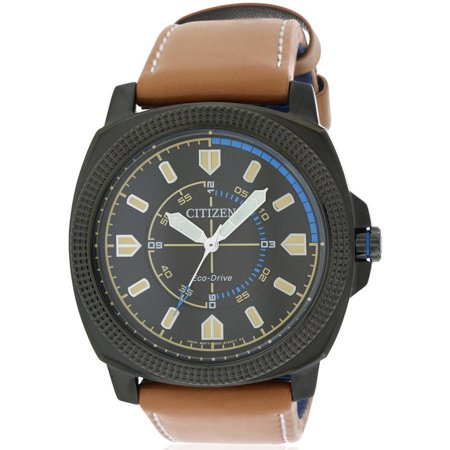 - Eco-Drive CTO DRIVE Leather Men's Watch, BJ6475-00E