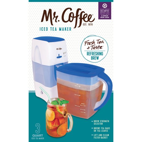 Mr. Coffee 3 Quart Blue Iced Tea Maker with Brew Strength Selector, 1 Each