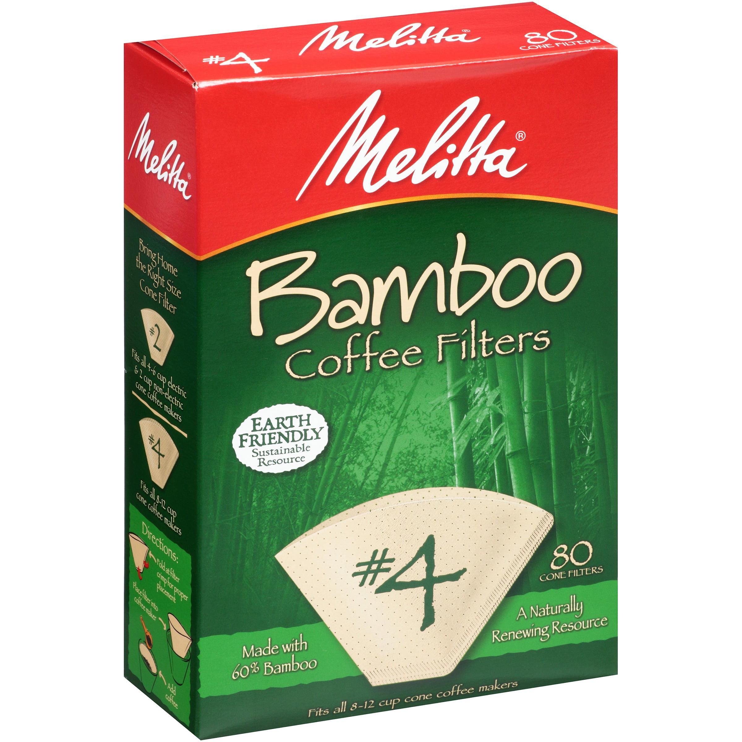 Melitta Bamboo Coffee Filters #4 80 CT by Melitta USA Inc.