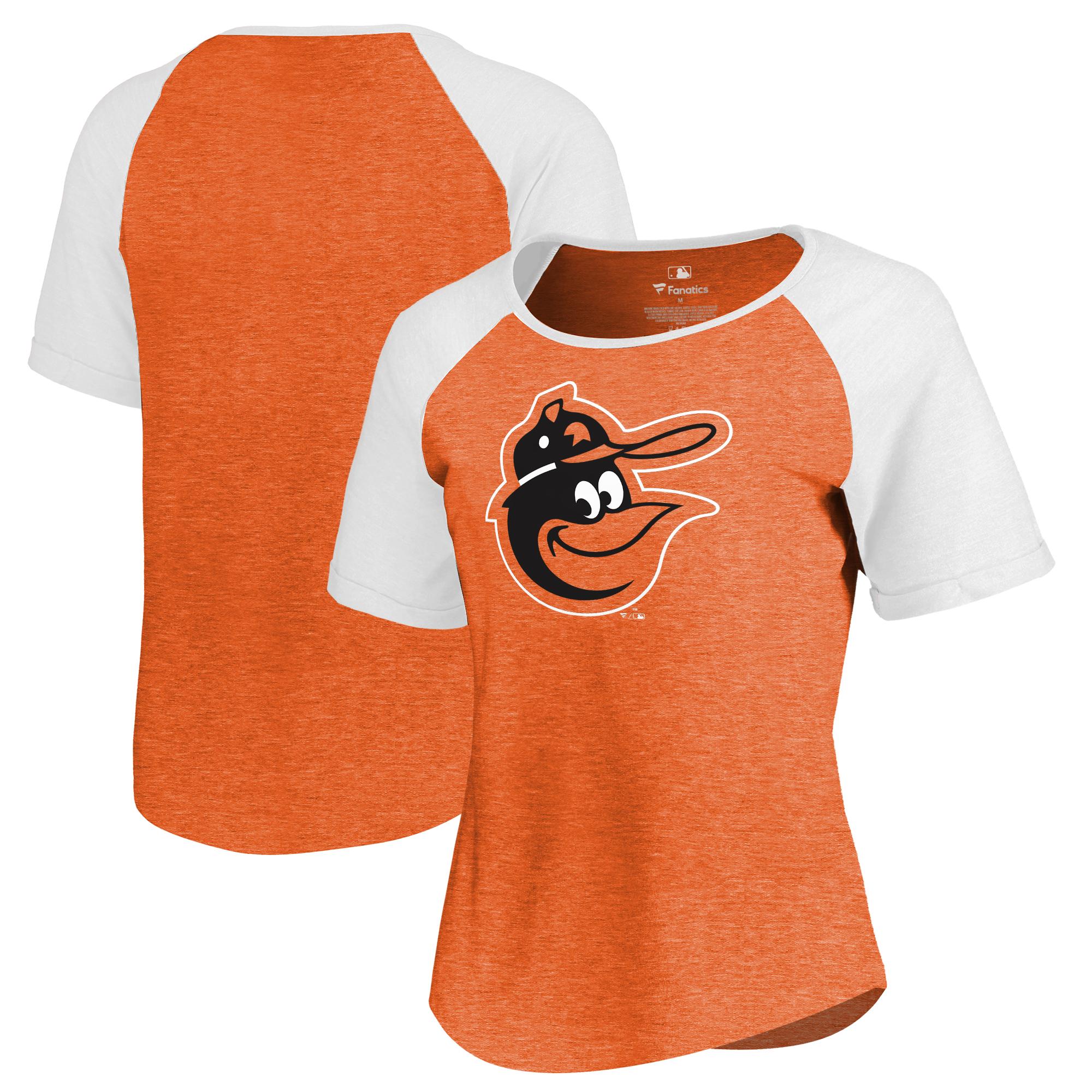 Baltimore Orioles Fanatics Branded Women's Huntington Cooperstown Collection Tri-Blend T-Shirt - Orange