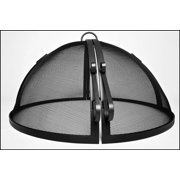 """42"""" Welded HYBRID Steel Hinged Round Fire Pit Safety Screen"""