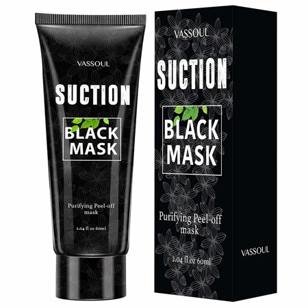 Vassoul Blackhead Remover Mask, Peel Off Blackhead Mask - Deep Cleansing Black Mask, Bamboo Activated Charcoal Peel-Off Mask (Sound Activated Mask)