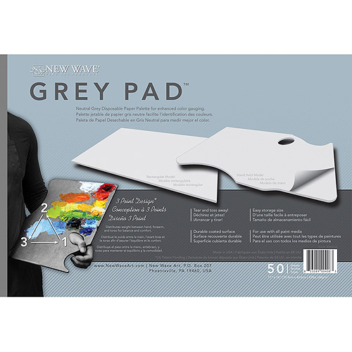 New Wave Grey Pad Disposable Palettes