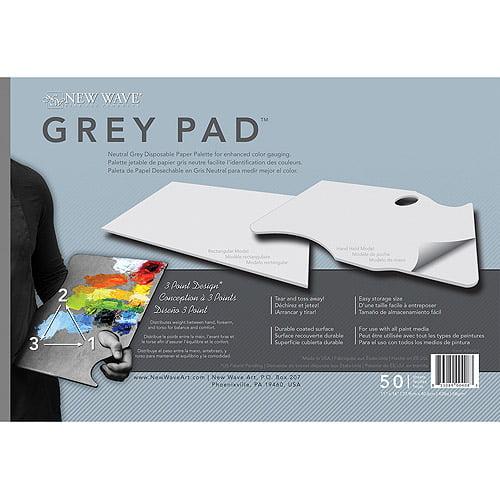 "New Wave - Grey Pad Paper Palette - 11"" x 16"" - Rectangular, 50 Shts./Pad"