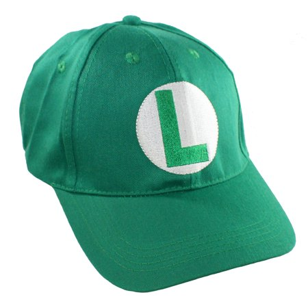 a51bea4e240a2 Super Mario Brothers Luigi Hat Adult Baseball Cap for Cosplay Party -  Walmart.com