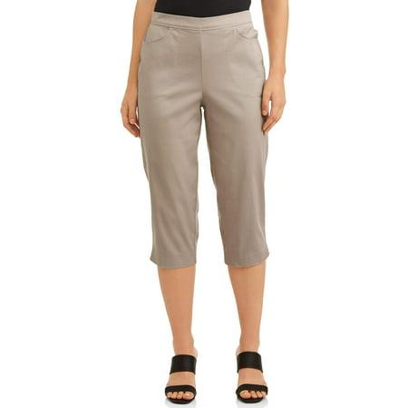 Womens 2-Pocket Stretch Capri Pants