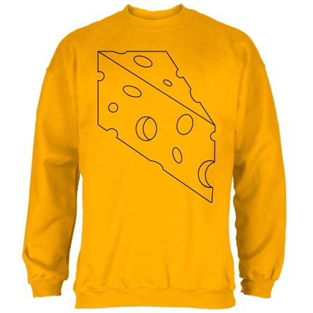 Halloween Swiss Cheese Food Costume Mens Sweatshirt](Cheese Ideas Halloween)