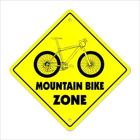 Mountain Bike Crossing Decal Zone Xing | Indoor/Outdoor | 4