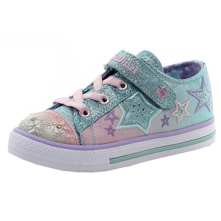 Skechers Toddler Twinkle Wishes Enchanters Light Blue/Pink Sneakers Shoes Sz: 7T