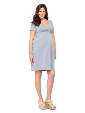 017c6feeef53f Product Image Maternity Short Sleeve Nursing Friendly Dress Gray XS-Liz  Lange