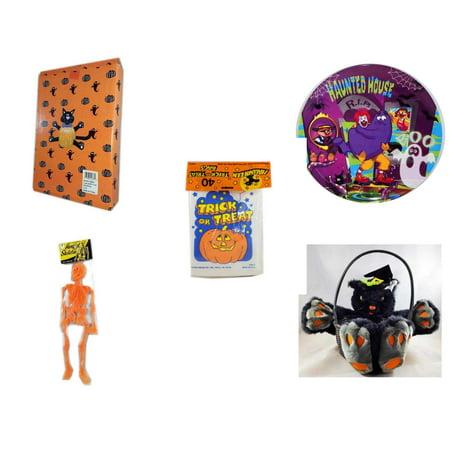 Halloween Fun Gift Bundle 5 Piece Cat Pumpkin Push In 5 Piece