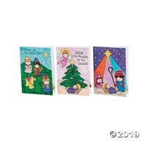 Color Your Own Religious Christmas Cards