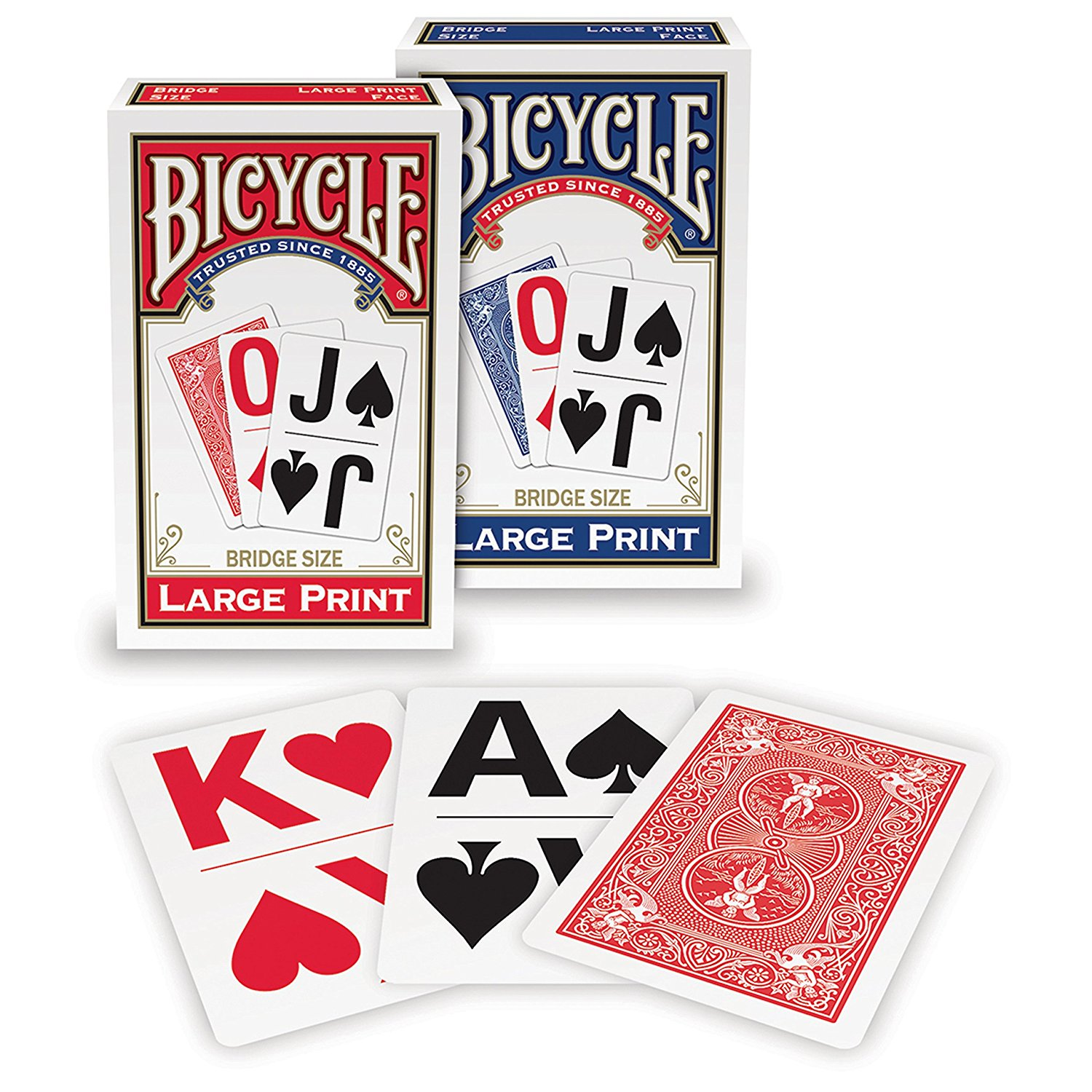 Large Print Playing Cards By Bicycle by