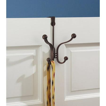 Bronze Door Hook - InterDesign York Lyra Over the Door Quad Hook