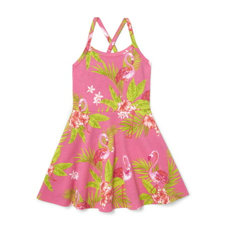 The Children's Place Cross-back Printed Dress (Baby Girls & Toddler (Body Tape To Keep Dress In Place)
