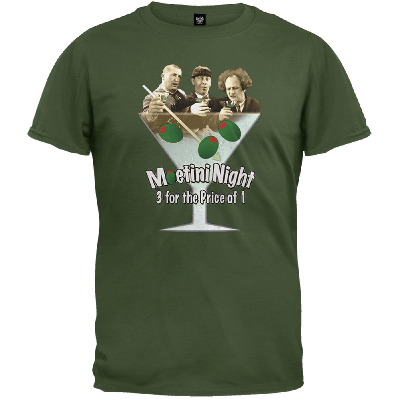 Three Stooges - Moetini Night T-Shirt