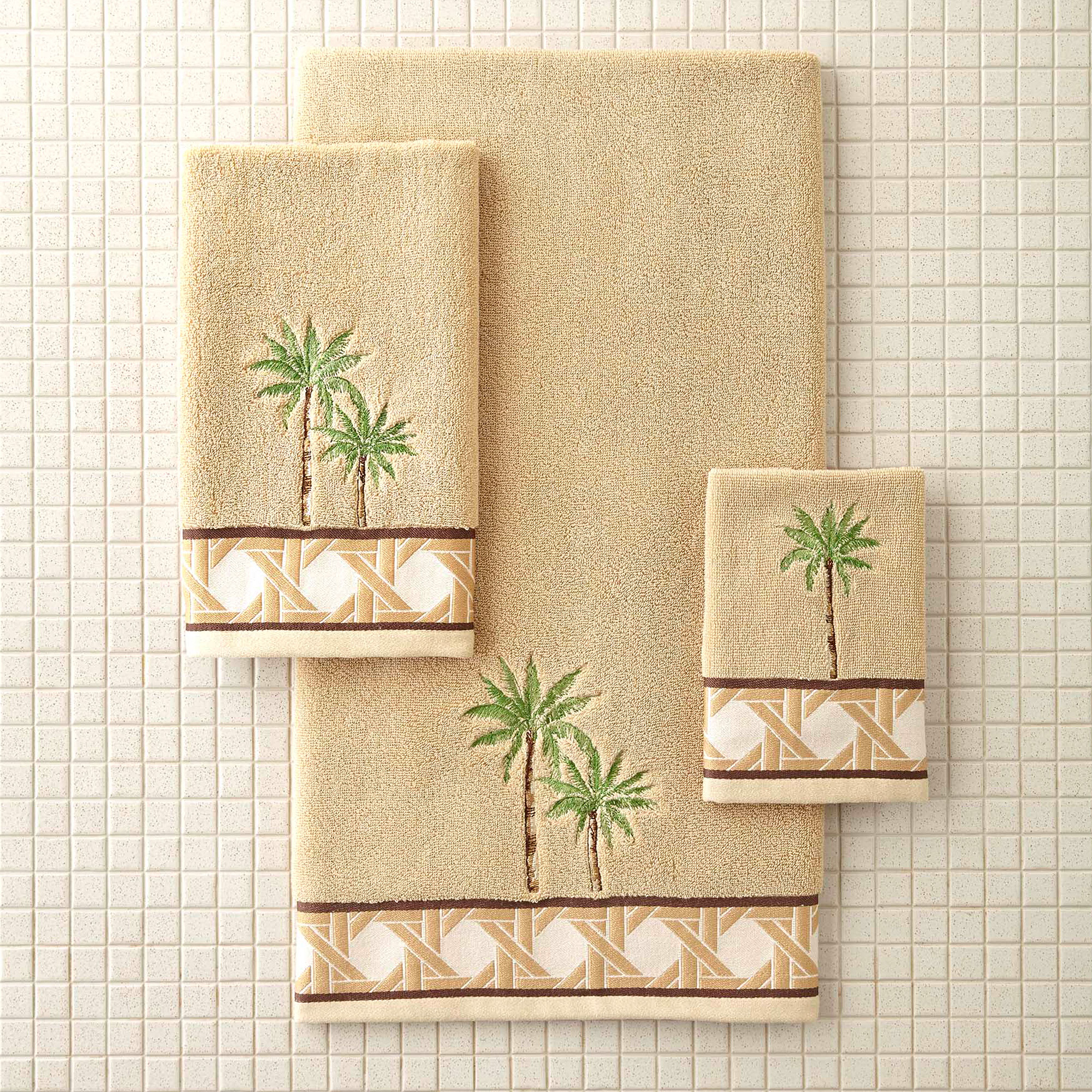 Better Homes and Gardens Palm Decorative Bath Towel Collection