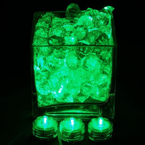 BalsaCircle 12 pcs LED Small Submersible Lights for Vases Wedding Party Birthday Event Centerpieces Accessories and Decorations
