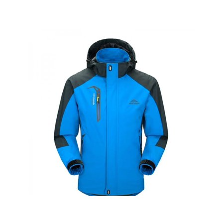 Topumt Men Sport Waterproof Hiking Jacket Winter Ski Outdoor Raincoat