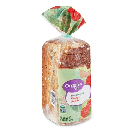 Great Value Organic Thin Sliced Bread Select Seeds 20 Oz