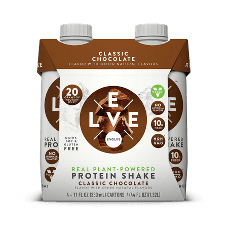 Evolve Real Plant-Powered Protein Shake Classic Chocolate - 4 CT11.0 FL - Protein Shake Coffee