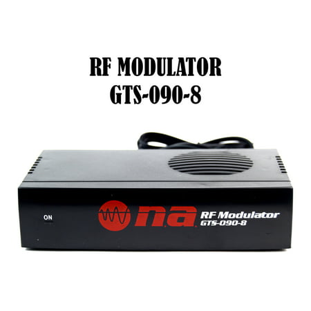 Universal RF Modulator RCA Audio Video to Coaxial Coax F With S Video