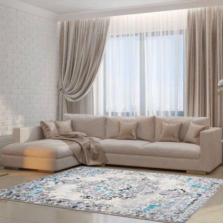 Ladole Rugs Grayton Abstract Contemporary Area Rug Carpet