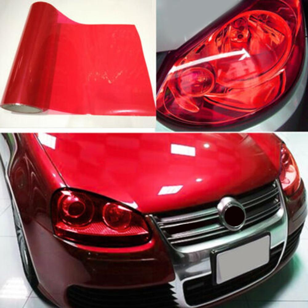 "12/""x48/"" Car Headlight Film PVC Taillight Tint Sticker Vinyl Fog Light Wrap Decal"