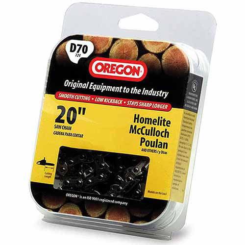 "Oregon Chain D70 20"" Full Chisel Cutting Chain"