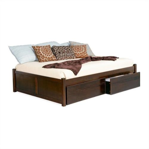 Atlantic Furniture Concord Platform Bed with Flat Panel F...
