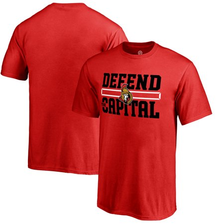 Ottawa Senators Fanatics Branded Youth Hometown Collection Defend T-Shirt - -