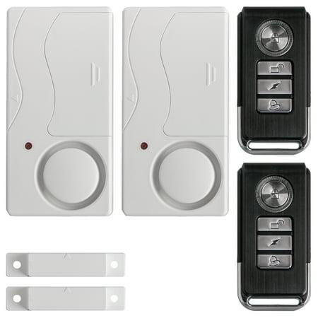 2-pack Wireless Anti-Theft Remote Control Magnetic Sensor Door Window Home Entry Security Burglar Bell Alarm