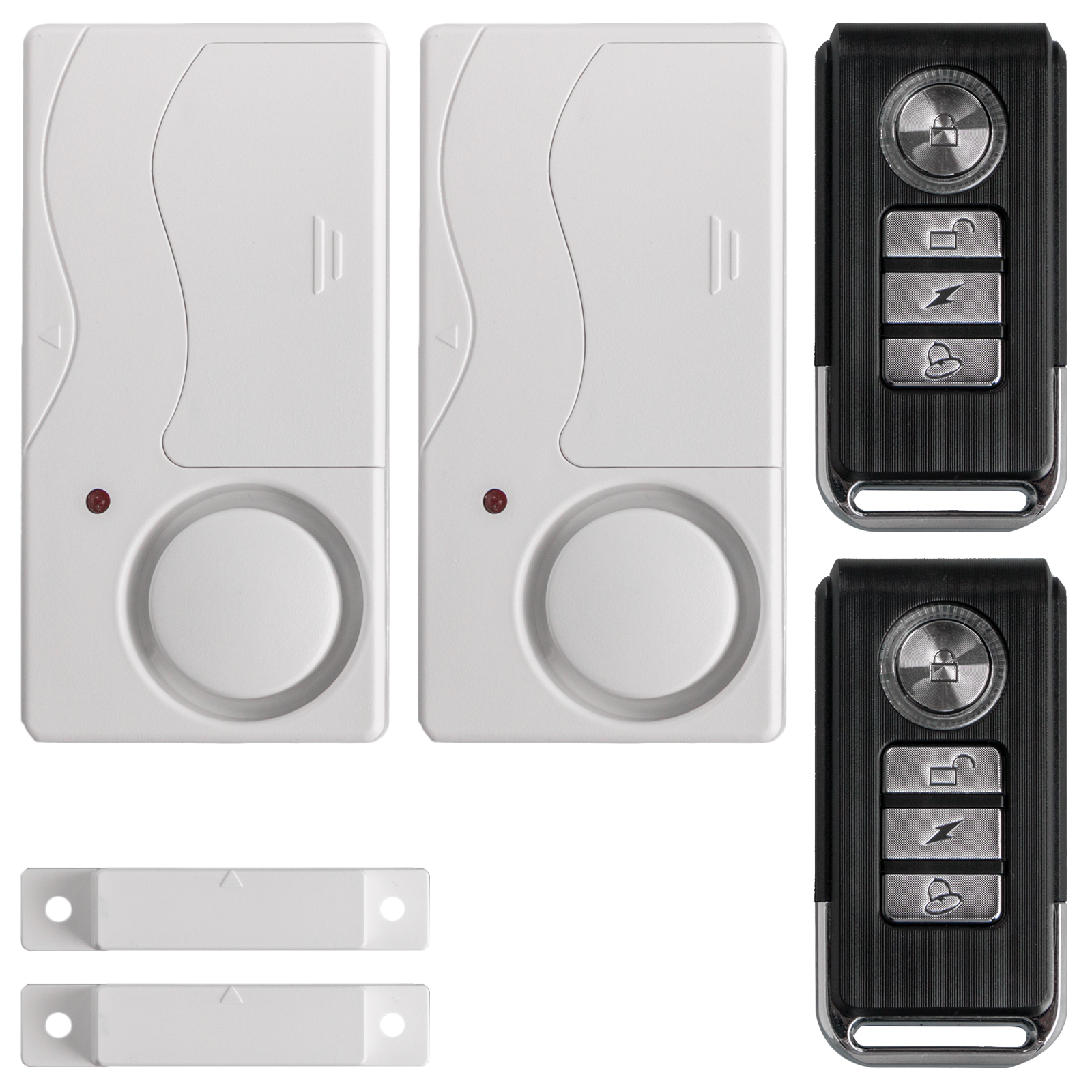 2-pack Wireless Anti-Theft Remote Control Magnetic Sensor Door Window Home Entry Security Burglar Bell Alarm