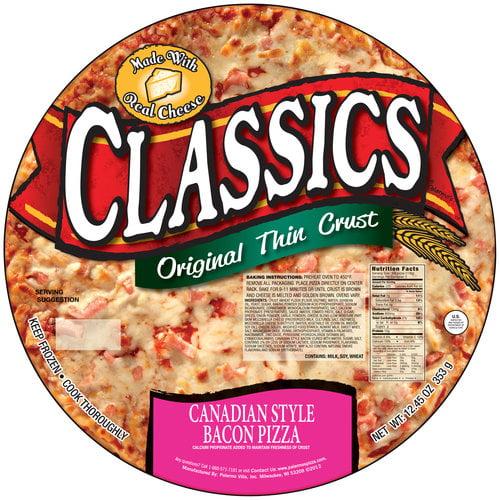Palermo's Classics Original Thin Crust Canadian Style Bacon Pizza, 12.45 oz