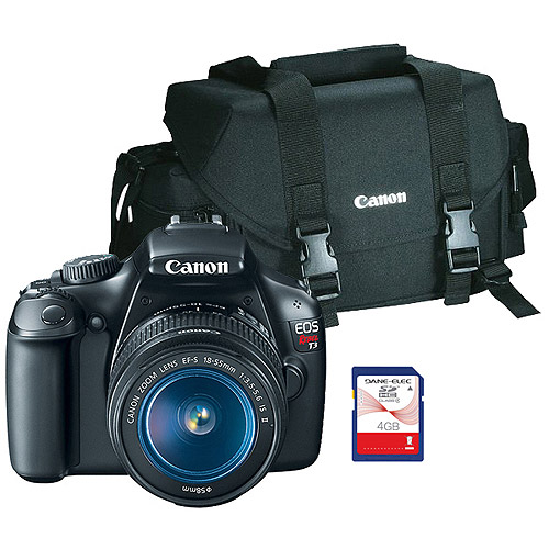 Canon EOS Rebel T3 12.2MP Digital SLR Camera Kit with 18-55mm Zoom Lens (Bonus Rebel Gadget Bag and 4GB SD Card Included)