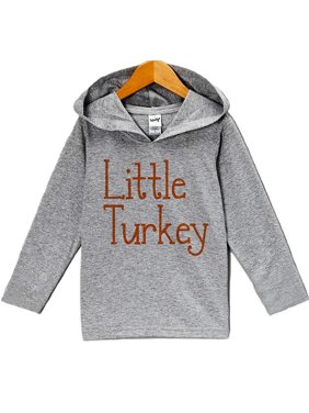 1d18b6e1ba Product Image Custom Party Shop Baby s Little Turkey Thanksgiving Hoodie -  3T