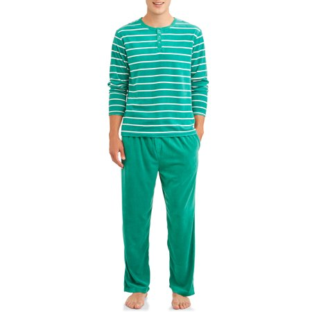 Blue Star Clothing Mens 2-Piece Velour Sleepwear Pajama Set